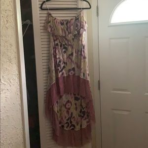 Anthropologie Tube Top High Low Dress